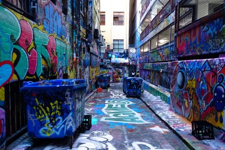 i thought it was just a street, it turned out to be a whole block covered in graffiti, loved it